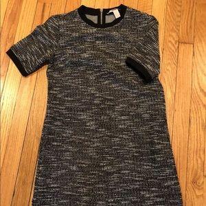 Tweed look shift mini dress